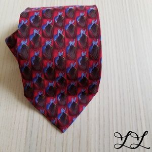 Vintage J. Garcia Tie RARE Red Purple Brown Silk